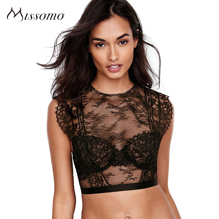 Missomo Women Black Lace perspective Bra Sets Ladies Soft Panties Summer underwear Bralettes For Whnolesale