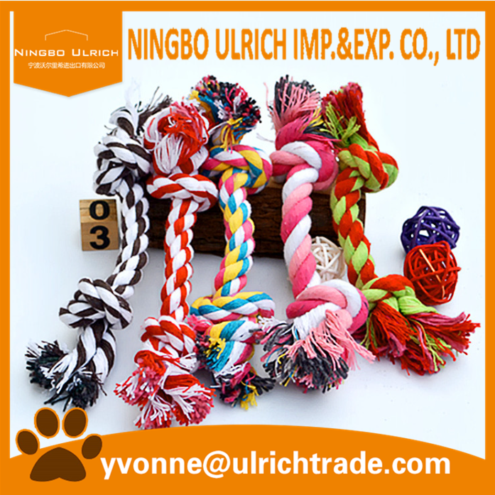 WP04 hot sale two Knots Cotton Rope Strengthen wholesale dog toys