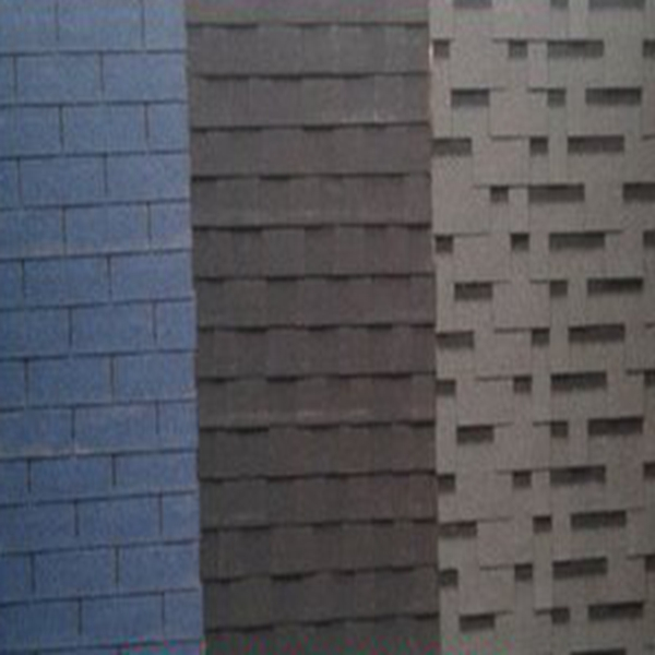 Professional manufacture competitive price fiberglass modified bitumen , 3-tab ocean blue asphalt roofing