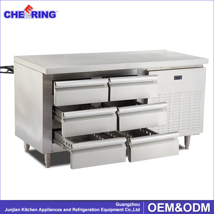 Kitchen Equipment Refrigerated Under Counter Prepare Worktable