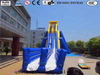 classical durable and exciting big inflatable water slide with pool water aqua park for ourdoor use