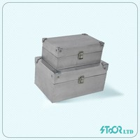 China decorate aluminum skin customize large metal storage box for with sale lid