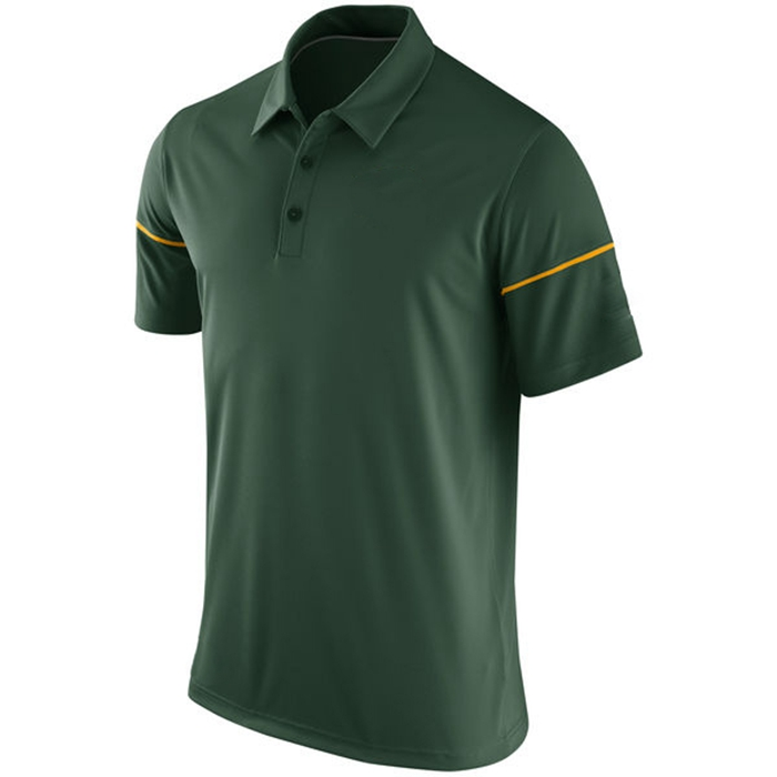 Hot Sale Cheap Green Dri Fit 100% Polyester Customize Men's Golf Polo Shirts
