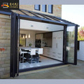 High quality aluminum accordion exterior bifolding door designs and prices