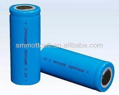 rechargeable lithium ion battery 26650 3.2V 3000MAH for power tool
