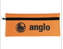 Logo Printed canvas Pencil Bag With Zipper