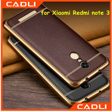 Ultra Thin Electroplating TPU Leather Pattern Phone Case Cover For XiaoMI Redmi note 3