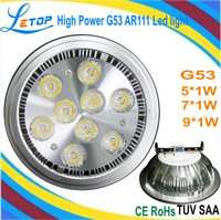 9W High power AR111 Led spot light 12V G53 base