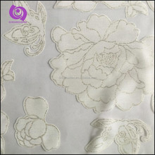 Floral Burn Out Organza Curtain Fabrics with Foil