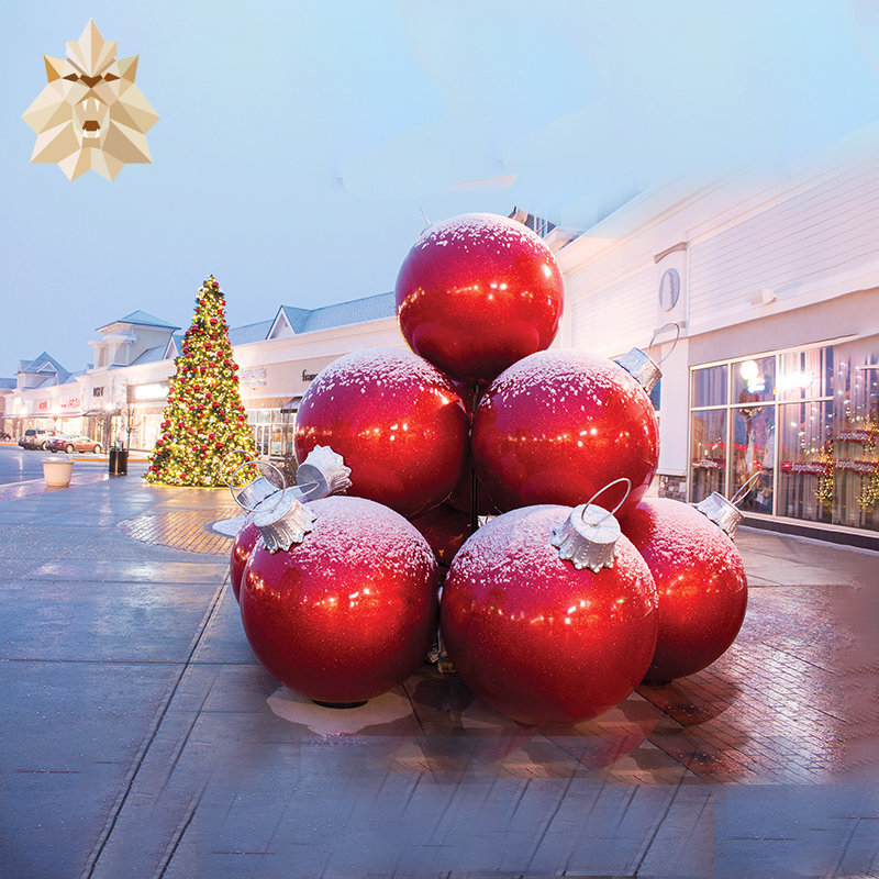 Outdoor decoration big size fiberglass Christmas ball for sale NT-0003CH