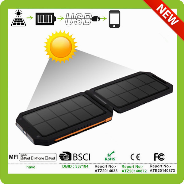 flexible solar mobile charger with sun power high efficiency solar panel