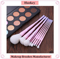 Newest Design High Quality White Synthetic Hair Diamond Spiral Handle Professional Make Up Brushes