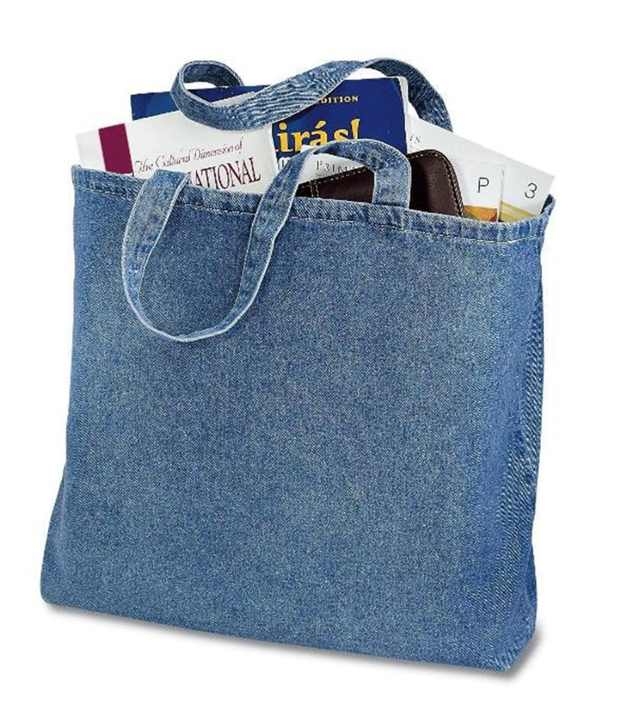 Heavy Reusable Cotton Denim Convention Tote Bag