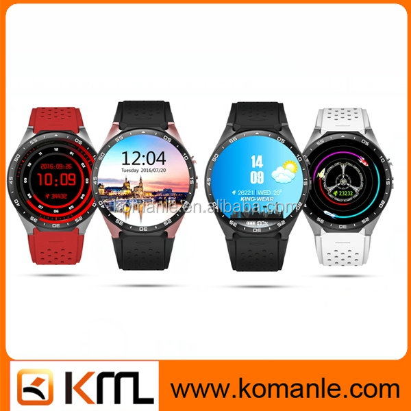 2016 Full round smart watch kw88 android OS wifi gps 3G WCDMA mtk6580 heart rate kw88 smart watch phone