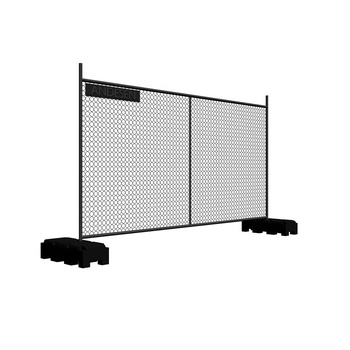 Free standing dog 6 x12 temporary chain link fence panel stand