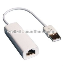 USB 2.0 to RJ45 LAN Adapter Cable for Apple MacBook Air Laptop PC Mac OS USB-Eth