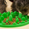 Silicone Pet Portable Interactive Feeder Bowl Dog Slow Feeder Bowl