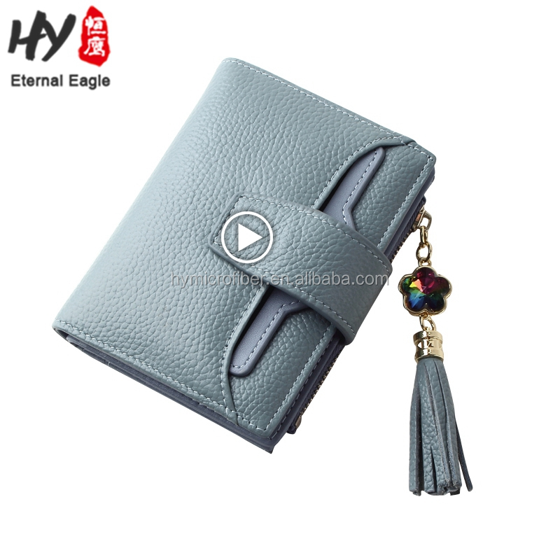 The simple fashion short waterproof leather wallet