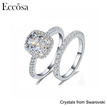 Hot Sales Diamond Wedding Rings for Women Jewellery 1 Gram Gold Ring for Men Crystals From Swarovski