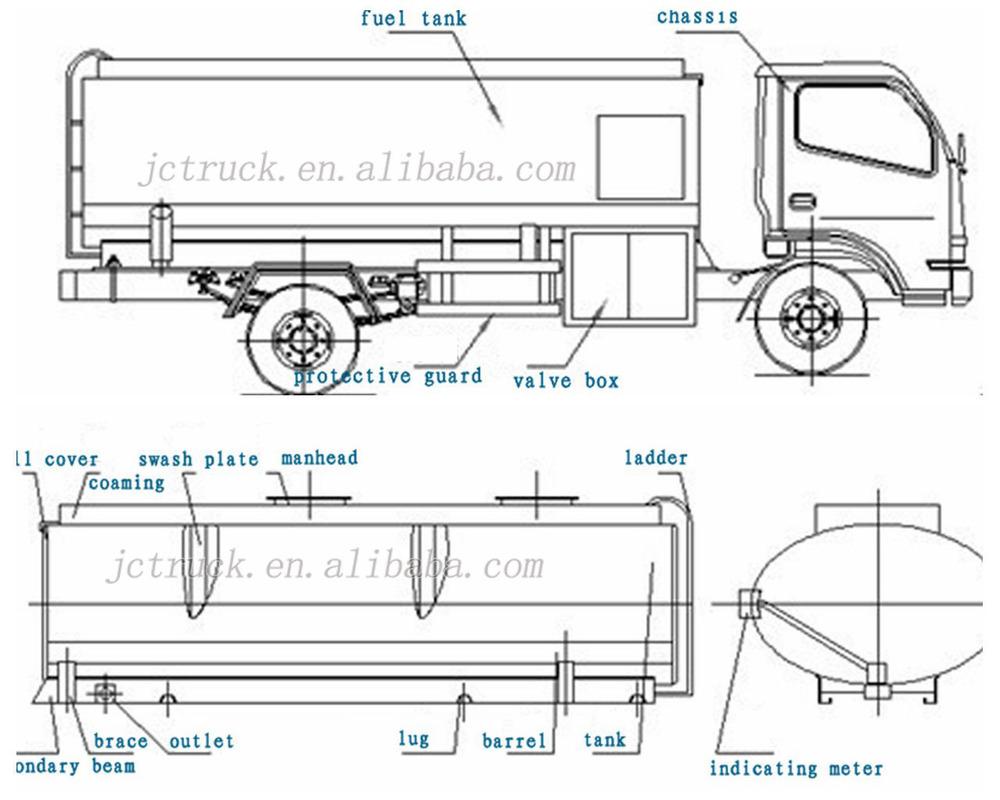 Sinotruck 8 x 4 38000l huile camion citerne carburant for Como arreglar una cisterna de doble carga