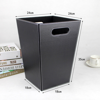 factory wholesale pu leather cheap trash can cute leather trash cans