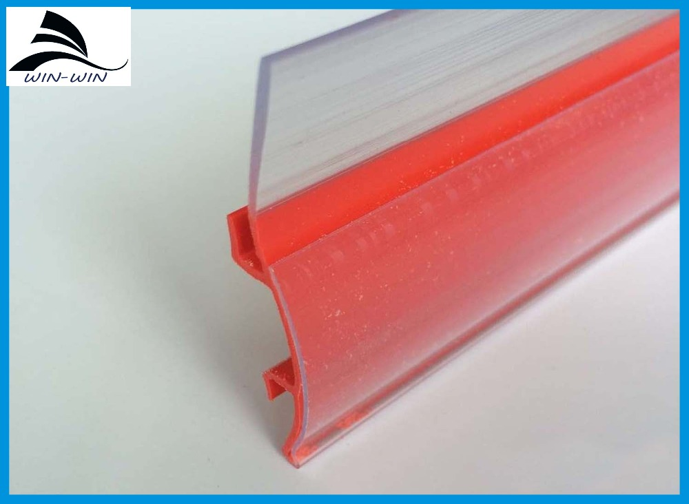 Supermerket Popular Shelf Semicircle Price Label Holder PVC Plastic Price tag label holder strip for Wire Shelving