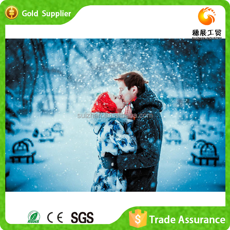 Lovers kiss the snow scene painting
