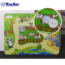 Educational Cute Cartoon Baby Puzzle Wooden Small Piece Kids Toy 3D