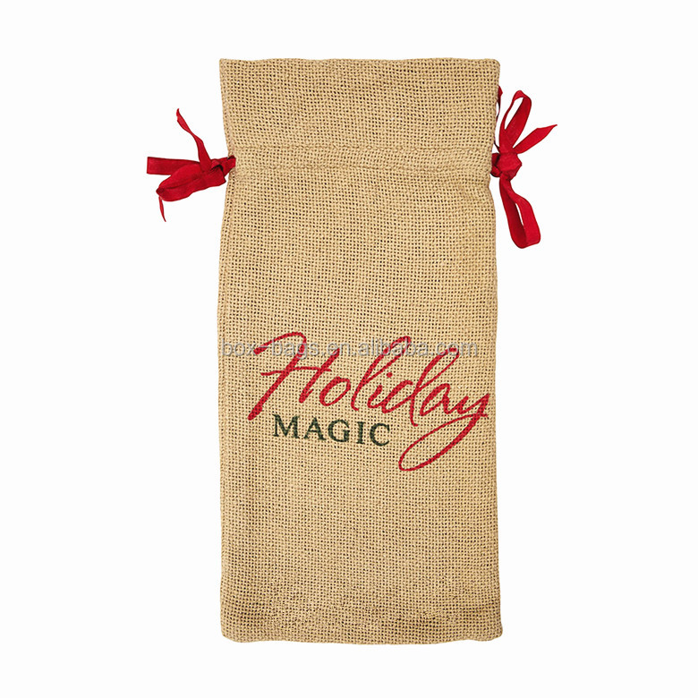 Christmas Gift Packing bag, Gunny/Burlap/Jute Bag, drawstring pouch