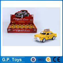 1:32 PULL BACK METAL CAR OPEN DOOR 12PCS TAXI die cast toys cars
