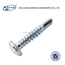 Stainless 410 White Painted Torx Pan Head Self Drilling Tek Screw w/ Sealing