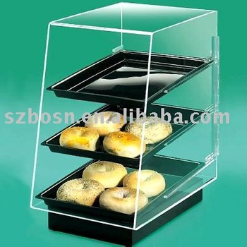 Acrylic Bakery Case,Plexiglass Bread Display,Perspex Cake Stand