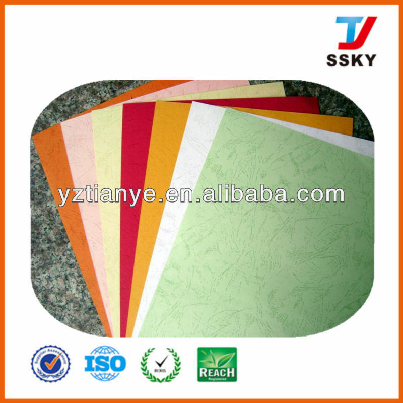 Hot sale leather embossed binding paper A4 paper cover