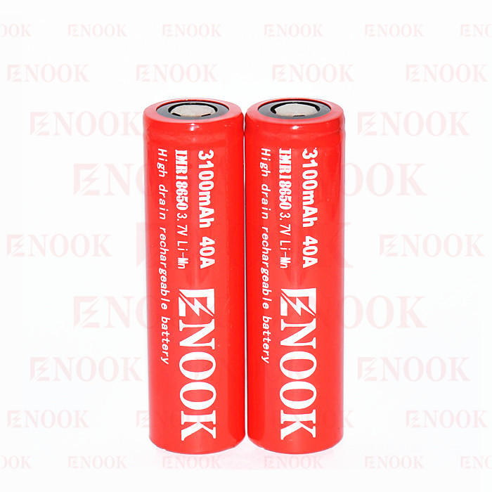 enook 18650 battery 18650 3100mAh 40A enook 18650 battery e-cigarette battery /vape mod 18650 lithium battery 18650 rechargeable