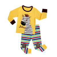 new style wholesale Printed 100% Cotton fabric Baby Pajamas animal pajamas children's sleepwear
