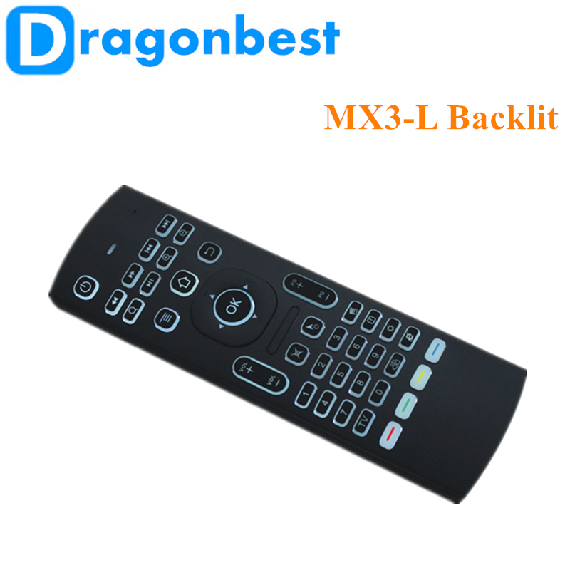 2017 Hot selling MX3-L backlit air mouse wirless with best quality and low price Somatosensory remote control