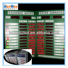 2015 hot sale!!!indoor led electronic currency board \ led foreign currency board for office sign \ rates currency