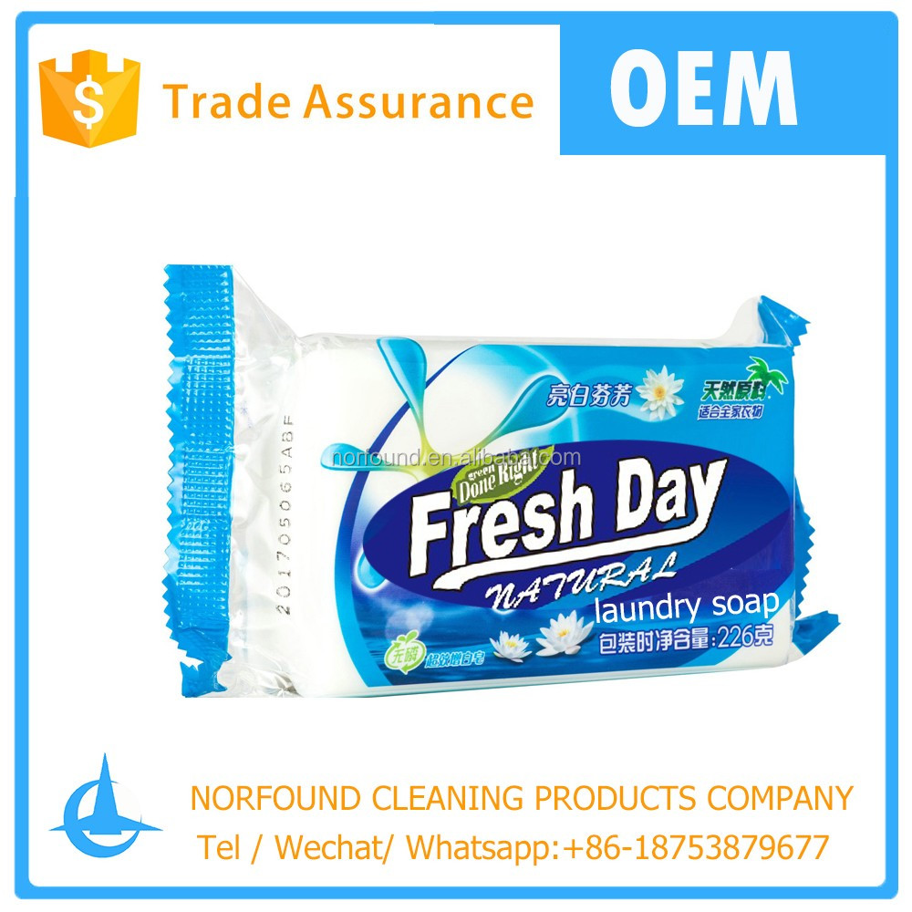 Fresh day sea perfume white washing soap certified by SGS Jabon de lavar