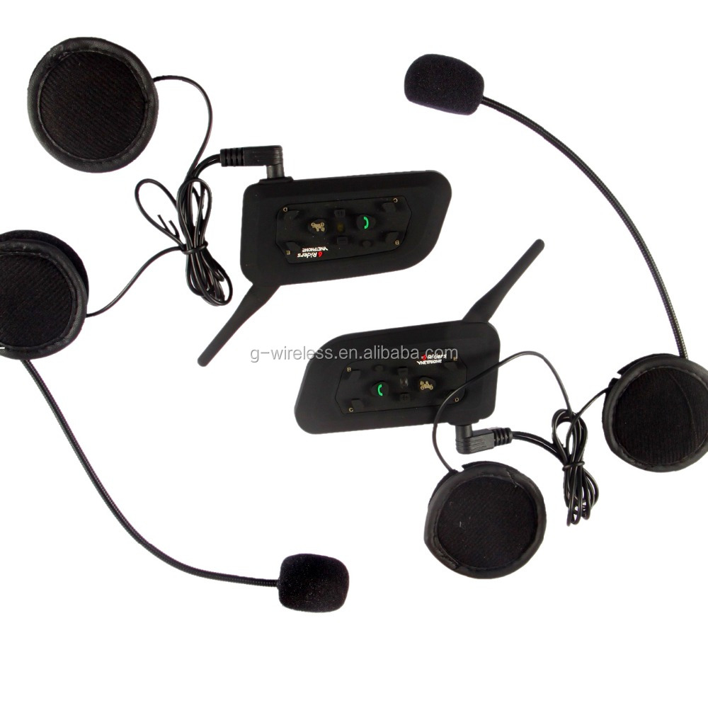 wireless full duplex most popular motor helmet bluetooth headset/intercom with waterproof housing