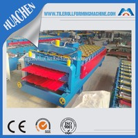 Double Layer Metal Roofing Sheet Color Steel Plate Roll Forming Machinery For Sale