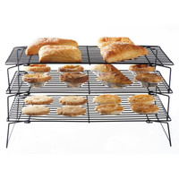 3 Tier Stackable Metal Food Pie Pastry Cooling Display Rack