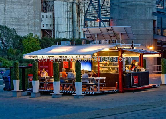 Modern Mobile Collapsible Container Restaurant Customer