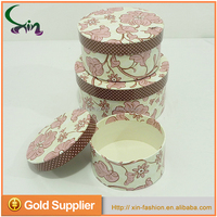 New style custom printed round cookie gift cardboard packaging box