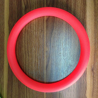 Xianjian Factory Summer Rubber Candy colour Steering Wheel Cover Eco-friend Tasteless Silicone Universal (red)