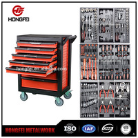 Heavy Duty Workshop Drawers Storage Modular Stainless Steel Roller Tool Cabinet With Complete Mechanics Tool Set With Box
