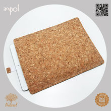 Naturally shock-absorbent customized cork smart cover case for ipad 1/2/3/4