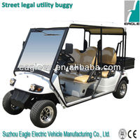 Road legal utility sightseeing golf car, with cargo box, EG2048HR-01