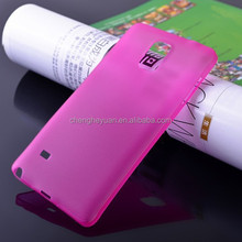 2015 newest scrub plastic hard clear protective phone case cover for samsung galaxy s4