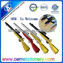 new style plastic ball pen in gun shape