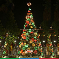 CE,SAA,UL,SASO,CB approved unique cheap and high quality snow needle pine christmas tree with pine cones decoration